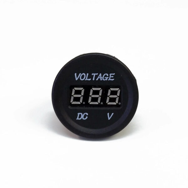 Volt Meter 03 600x600 - Single 12VDC Voltmeter Round Cigarette Lighter Size