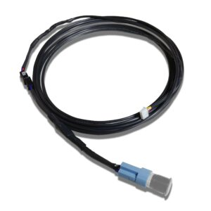 Isolated Complete Switch Harness and Push Button Switch with Black Wire Extension Cable Molex Connectors and Black Heatshrink scaled 300x300 - Easy Connect Harness Extension