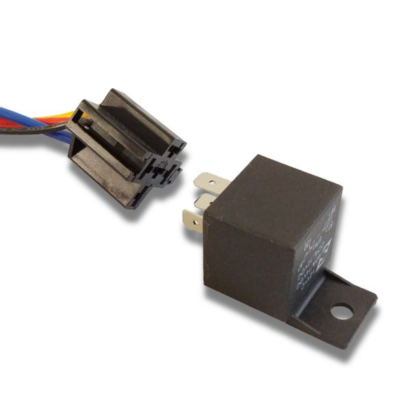 Automotive Relay Disassembled from Socket 40A 14VDC 12V 600x600 - 4 PACK - 40A Automotive Relay 12VDC Coil w/ Wire Harness