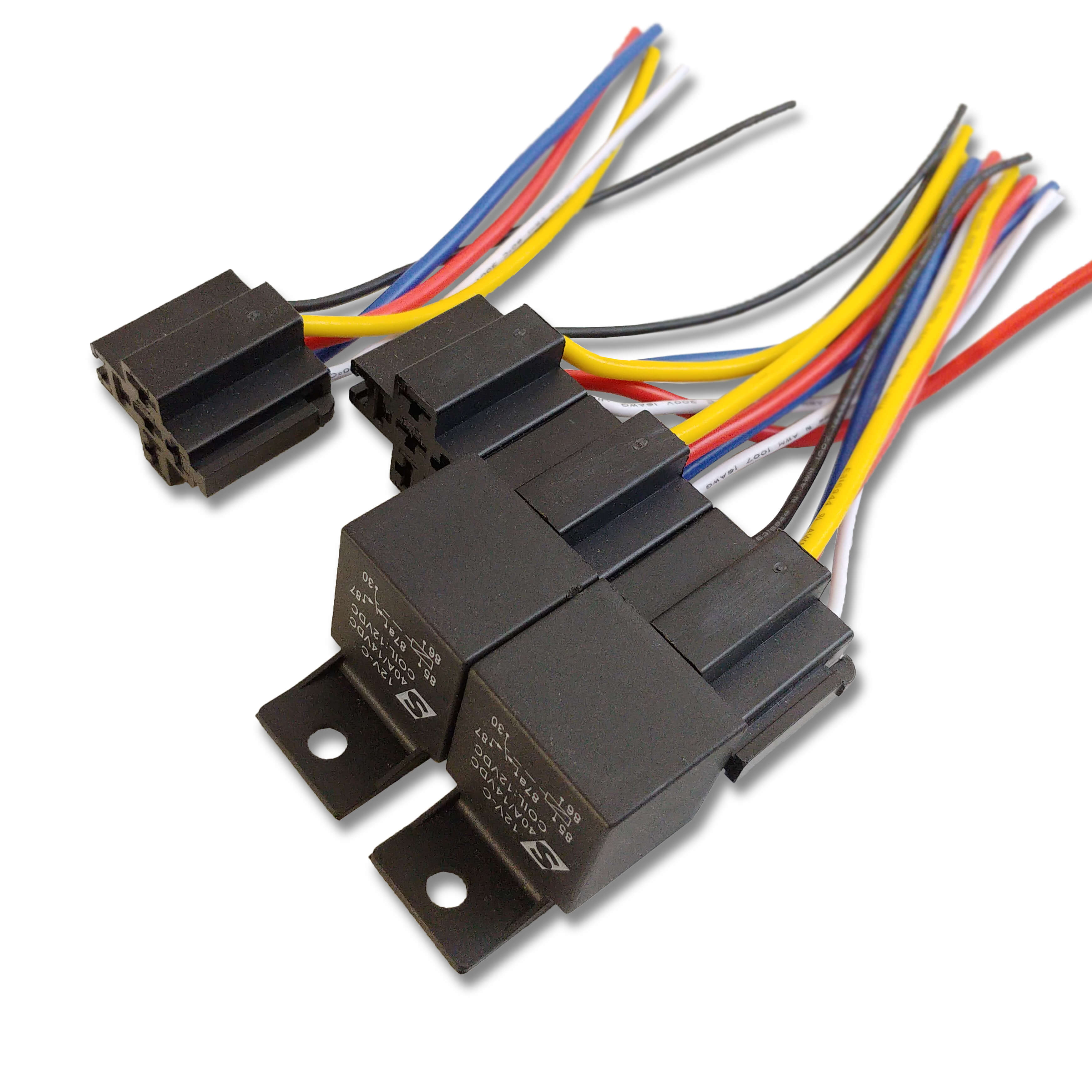 4 pack 40a automotive relay 12vdc coil w wire harness sparked rh shop sparkedinnovations com