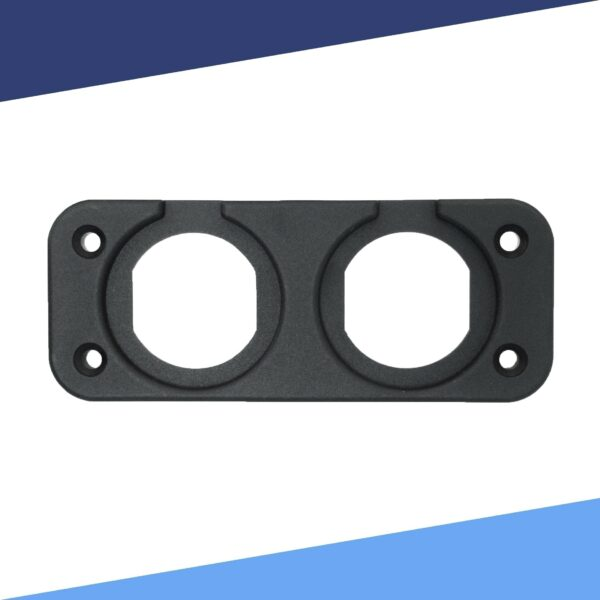 Dual Gauge Mounting Plate without Meter front view S 600x600 - Dual Spot Panel