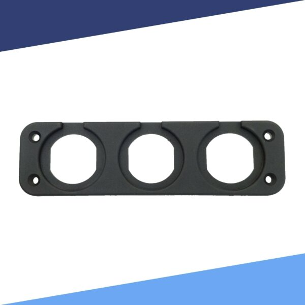 Triple Gauge Mounting Plate without Meter front view S scaled 600x600 - Triple Spot Panel