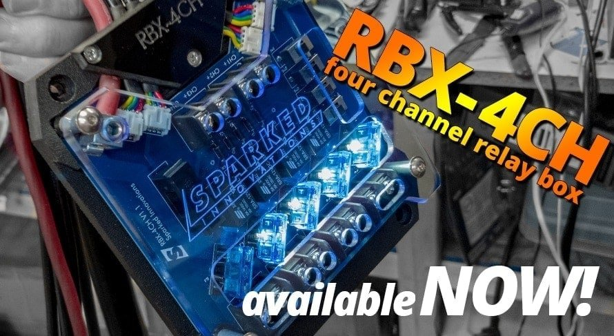 RBX 4CH four channel relay box available NOW - Sparked Innovations | 12V Custom Automotive Electronics