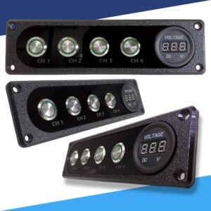 Single DIN Dash piece aluminum 300x300 - Sparked Innovations | 12V Custom Automotive Electronics