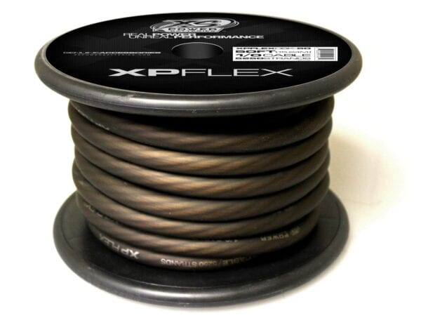 Black XS Power 1 0 AWG Gauge XP Flex Power and Ground Cable XPFLEX0BK 50 turn 600x473 - XS Power 1/0 AWG Gauge XP Flex Car Audio Power and Ground Cable 50ft spool