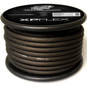 Black XS Power 2 AWG Gauge XP Flex Power and Ground Cable XPFLEX2BK 100 turn 300x300 - XS Power 2 AWG Gauge XP Flex Car Audio Power and Ground Cable 100ft spool