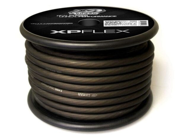 Black XS Power 2 AWG Gauge XP Flex Power and Ground Cable XPFLEX2BK 100 turn 600x473 - XS Power 2 AWG Gauge XP Flex Car Audio Power and Ground Cable 100ft spool