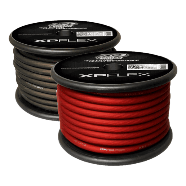 Black and Red XS Power 2 AWG Gauge XP Flex Power and Ground Cable XPFLEX2 100 turn 600x600 - XS Power 2 AWG Gauge XP Flex Car Audio Power and Ground Cable 100ft spool