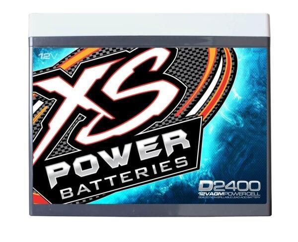 D2400 XS Power 12VDC AGM Car Audio Battery 3500A 70Ah front 600x488 - D2400 XS Power 12VDC AGM Car Audio Battery 3500A 70Ah Group 24