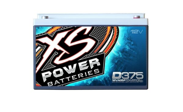 D375 XS Power 12VDC AGM Car Audio Battery 800A 15Ah front 600x368 - D375 XS Power 12VDC AGM Car Audio Battery 800A 15Ah