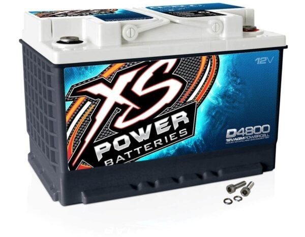 D4800 XS Power 12VDC AGM Car Audio Battery 3000A 60Ah turn 600x467 - D4800 XS Power 12VDC AGM Car Audio Battery 3000A 60Ah Group 48