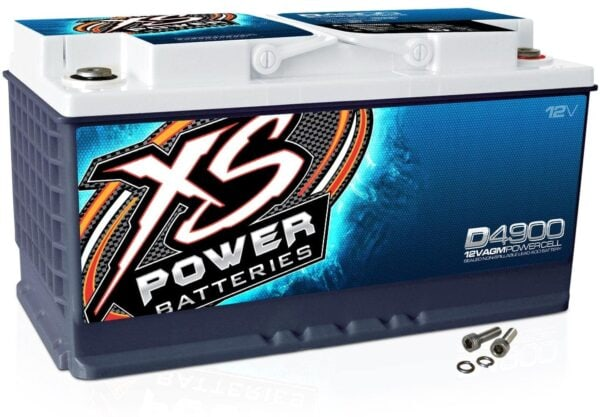 D4900 XS Power 12VDC AGM Car Audio Battery 4000A 80Ah turn 600x417 - D4900 XS Power 12VDC AGM Car Audio Battery 4000A 80Ah Group 49