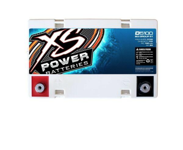 D5100 XS Power 12VDC AGM Car Audio Battery 3100A 60Ah top 600x492 - D5100 XS Power 12VDC AGM Car Audio Battery 3100A 60Ah Group 51