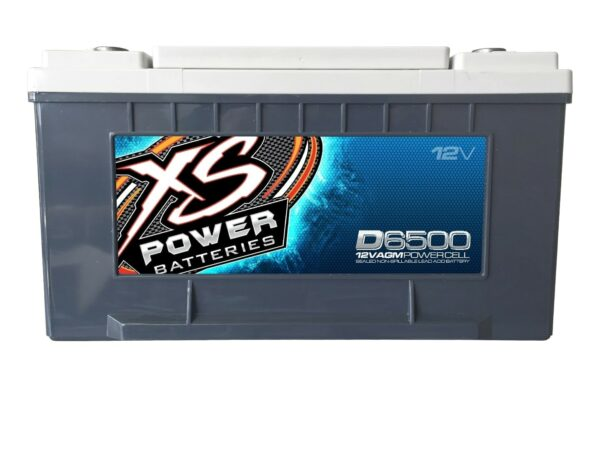 D6500 XS Power 12VDC AGM Car Audio Battery 3900A 75Ah front 600x467 - D6500 XS Power 12VDC AGM Car Audio Battery 3900A 75Ah Group 65