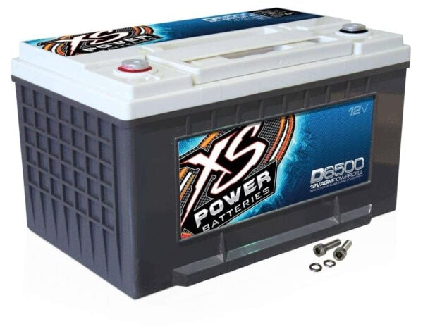 D6500 XS Power 12VDC AGM Car Audio Battery 3900A 75Ah turn 600x467 - D6500 XS Power 12VDC AGM Car Audio Battery 3900A 75Ah Group 65