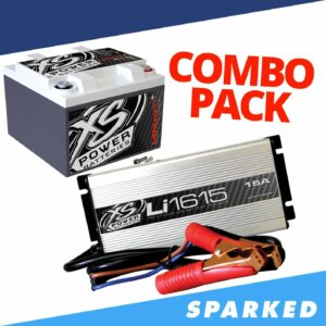 Li S925 16 XS Power 16V Lithium Battery and Li1615 15A 16V High Frequency Lithium Ion IntelliCHARGER combo 300x300 - XP750CK XS Power 12VDC AGM Car Audio Battery Installation Kit 750A 22Ah