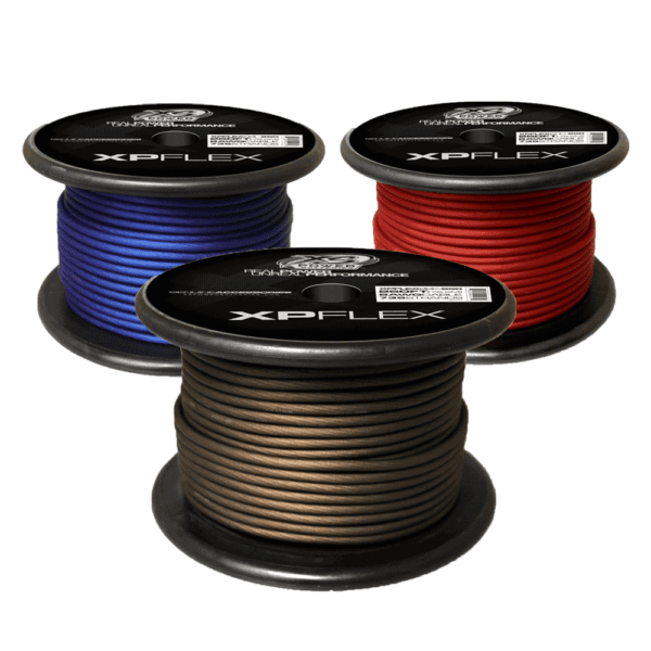 Red Blue Black XS Power 8 AWG Gauge XP Flex Power and Ground Cable XPFLEX8 250 600x600 - XS Power 8 AWG Gauge XP Flex Car Audio Power and Ground Cable 250ft spool