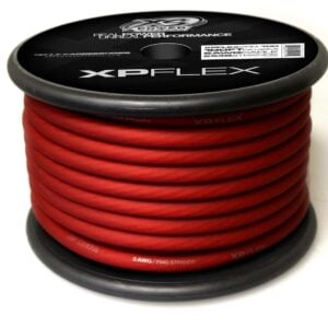 Red XS Power 2 AWG Gauge XP Flex Power and Ground Cable XPFLEX2RD 100 turn 300x300 - XS Power 2 AWG Gauge XP Flex Car Audio Power and Ground Cable 100ft spool