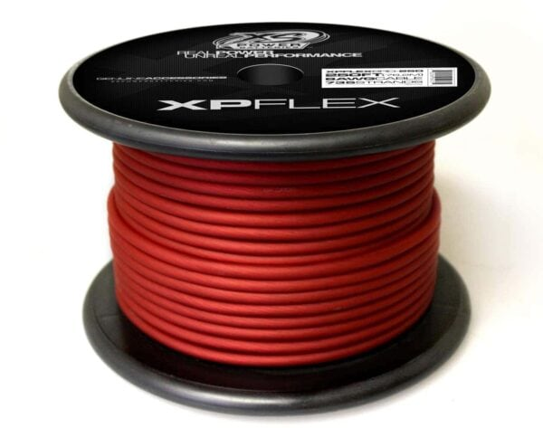Red XS Power 8 AWG Gauge XP Flex Power and Ground Cable XPFLEX8RD 250 600x473 - XS Power 8 AWG Gauge XP Flex Car Audio Power and Ground Cable 250ft spool