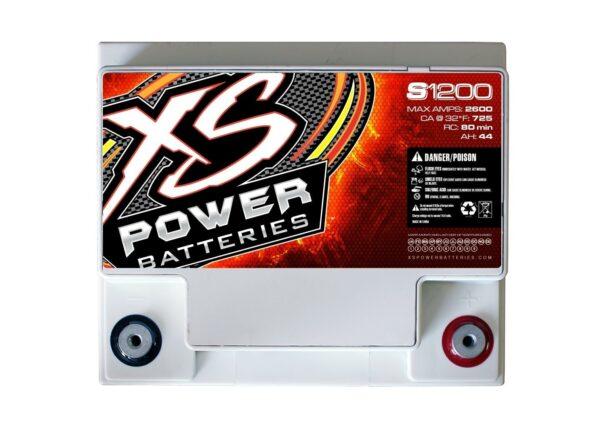 S1200 XS Power 12VDC AGM Racing Battery 2600A 44Ah top 600x442 - S1200 XS Power 12VDC AGM Racing Battery 2600A 44Ah