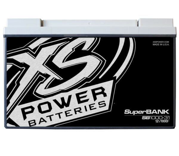 SB1000 31 XS Power 1000F SuperBank 12V Ultracapacitors Group 31 front 600x521 - SB1000-31 XS Power 1000F SuperBank 12V Ultracapacitors Group 31