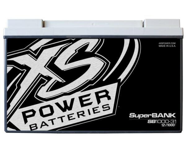 SB1000 31 XS Power 1000F SuperBank 12V Ultracapacitors Group 31 front 600x521 - SB1000-31 XS Power 1000F SuperBank 12V Ultracapacitors Group 31