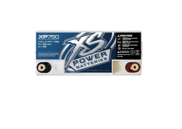 XP750 XS Power 12VDC AGM Car Audio Battery 750A 22Ah top 600x427 - XP750 XS Power 12VDC AGM Car Audio Battery 750A 22Ah