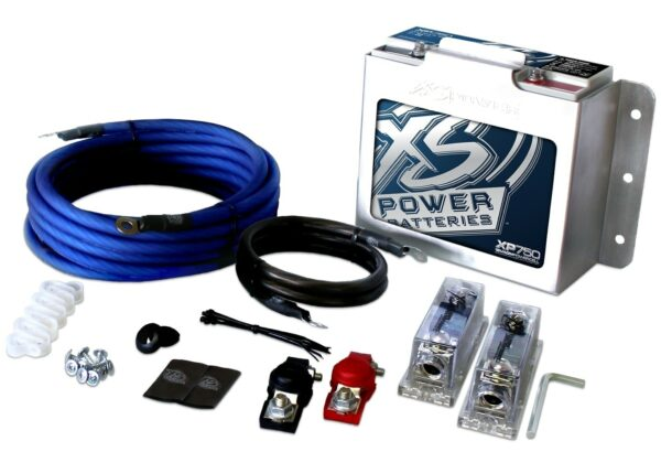 XP750CK XS Power 12VDC AGM Car Audio Battery Installation Kit 750A 22Ah 600x410 - XP750CK XS Power 12VDC AGM Car Audio Battery Installation Kit 750A 22Ah
