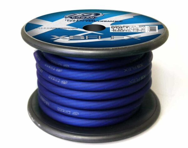 XS Power 10 AWG Gauge XS Flex 100 Oxygen Free Tinned Copper Power and Ground Cable 50ft spool XSFLEX0BL 50 Iced Blue 600x473 - XS Power 1/0 AWG Gauge XS Flex 100% Oxygen Free Tinned Copper Power and Ground Cable 50ft spool