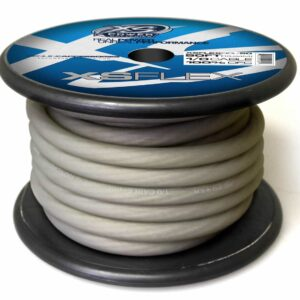 XS Power 10 AWG Gauge XS Flex 100 Oxygen Free Tinned Copper Power and Ground Cable 50ft spool XSFLEX0CL 50 Iced Clear 300x300 - XS Power 1/0 AWG Gauge XS Flex 100% Oxygen Free Tinned Copper Power and Ground Cable 50ft spool