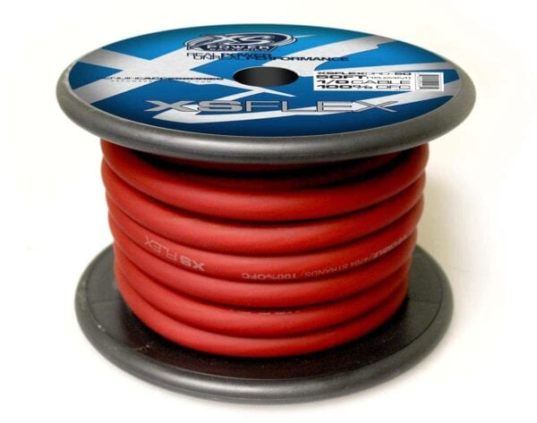XS Power 10 AWG Gauge XS Flex 100 Oxygen Free Tinned Copper Power and Ground Cable 50ft spool XSFLEX0RD 50 Iced Red 600x473 - XS Power 1/0 AWG Gauge XS Flex 100% Oxygen Free Tinned Copper Power and Ground Cable 50ft spool