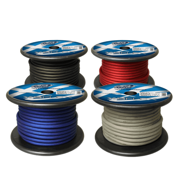 XS Power 4 AWG Gauge XS Flex 100 Oxygen Free Tinned Copper Power and Ground Cable 100ft spool Red Blue Black Clear 600x600 - XS Power 4 AWG Gauge XS Flex 100% Oxygen Free Tinned Copper Power and Ground Cable 100ft spool