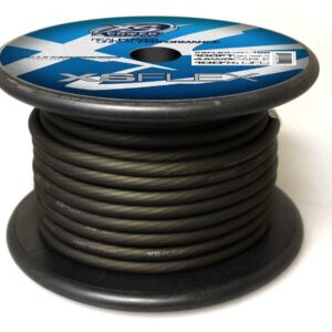 XS Power 4 AWG Gauge XS Flex 100 Oxygen Free Tinned Copper Power and Ground Cable 100ft spool XSFLEX4BK 100 Iced Black 300x300 - XS Power 4 AWG Gauge XS Flex 100% Oxygen Free Tinned Copper Power and Ground Cable 100ft spool