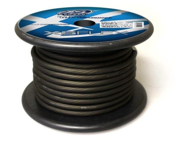 XS Power 4 AWG Gauge XS Flex 100 Oxygen Free Tinned Copper Power and Ground Cable 100ft spool XSFLEX4BK 100 Iced Black 600x473 - XS Power 4 AWG Gauge XS Flex 100% Oxygen Free Tinned Copper Power and Ground Cable 100ft spool