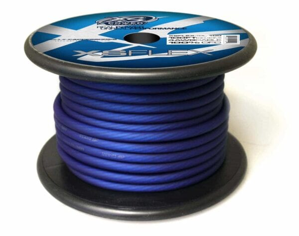 XS Power 4 AWG Gauge XS Flex 100 Oxygen Free Tinned Copper Power and Ground Cable 100ft spool XSFLEX4BL 100 Iced Blue 600x473 - XS Power 4 AWG Gauge XS Flex 100% Oxygen Free Tinned Copper Power and Ground Cable 100ft spool