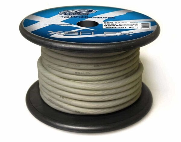 XS Power 4 AWG Gauge XS Flex 100 Oxygen Free Tinned Copper Power and Ground Cable 100ft spool XSFLEX4CL 100 Iced Clear 600x473 - XS Power 4 AWG Gauge XS Flex 100% Oxygen Free Tinned Copper Power and Ground Cable 100ft spool