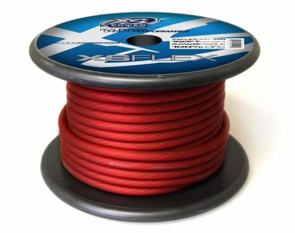 XS Power 4 AWG Gauge XS Flex 100 Oxygen Free Tinned Copper Power and Ground Cable 100ft spool XSFLEX4RD 100 Iced Red 600x473 - XS Power 4 AWG Gauge XS Flex 100% Oxygen Free Tinned Copper Power and Ground Cable 100ft spool