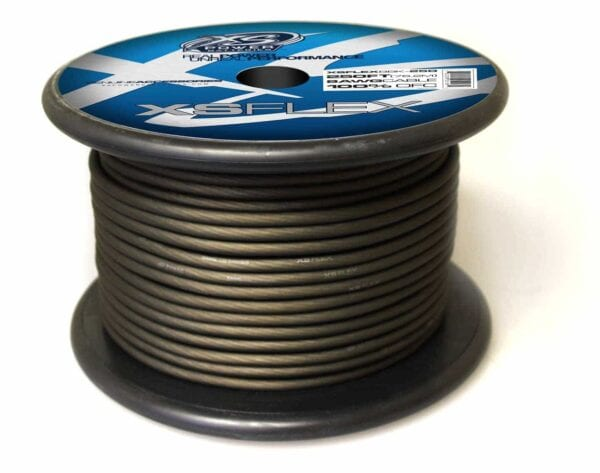 XS Power 8 AWG Gauge XS Flex 100 Oxygen Free Tinned Copper Power and Ground Cable 250ft spool XSFLEX8BK 250 Iced Black 600x473 - XS Power 8 AWG Gauge XS Flex 100% Oxygen Free Tinned Copper Power and Ground Cable 250ft spool