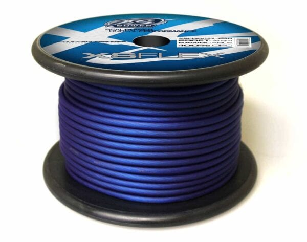 XS Power 8 AWG Gauge XS Flex 100 Oxygen Free Tinned Copper Power and Ground Cable 250ft spool XSFLEX8BL 250 Iced Blue 600x473 - XS Power 8 AWG Gauge XS Flex 100% Oxygen Free Tinned Copper Power and Ground Cable 250ft spool