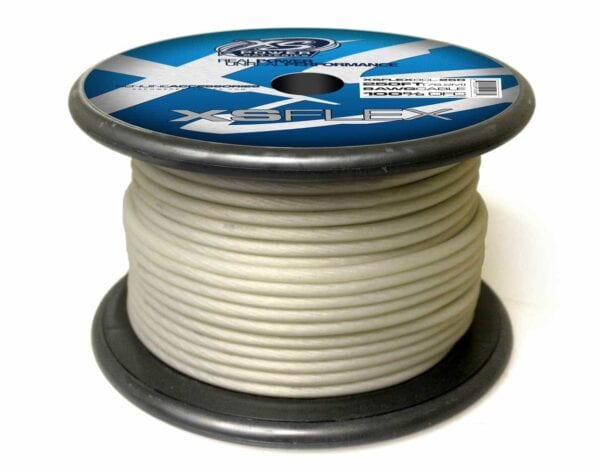 XS Power 8 AWG Gauge XS Flex 100 Oxygen Free Tinned Copper Power and Ground Cable 250ft spool XSFLEX8CL 250 Iced Clear 600x473 - XS Power 8 AWG Gauge XS Flex 100% Oxygen Free Tinned Copper Power and Ground Cable 250ft spool