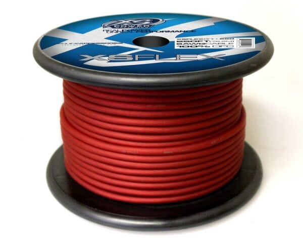XS Power 8 AWG Gauge XS Flex 100 Oxygen Free Tinned Copper Power and Ground Cable 250ft spool XSFLEX8RD 250 Iced Red 600x473 - XS Power 8 AWG Gauge XS Flex 100% Oxygen Free Tinned Copper Power and Ground Cable 250ft spool
