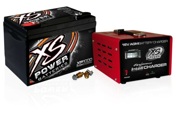 XS Power XP1000CK2 16VDC AGM Car Audio Battery and 1004 IntelliCHARGER Combo Kit