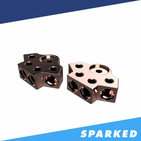 PAIR 4 Spot 1 0AWG Copper Terminal Blocks TB 704v2 XS Power 600x600 - PAIR 4-Spot 1/0AWG Copper Terminal Blocks TB-704v2 XS Power