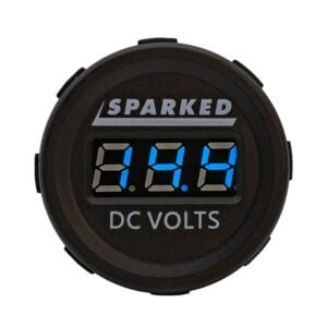 Single DC Voltmeter Blue Front Sparked DC VOLTS 2019 300x300 - Sparked Innovations | Clever Electronic Solutions