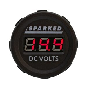 Single DC Voltmeter Red Front Sparked DC VOLTS 2019 300x300 - Single 12VDC Voltmeter Battery Voltage Monitor