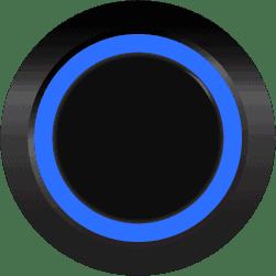 Black Illuminated Halo Ring Blue SPDT 12V Pushbutton Switch - Black Momentary 12V Push Button Switch SPDT Halo Ring