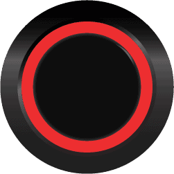 Black Illuminated Halo Ring Red SPDT 12V Pushbutton Switch - Black Latching 12V Push Button Switch SPDT Halo Ring