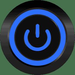 Black Illuminated Power Symbol Blue SPDT 12V Pushbutton Switch - Black Latching 12V Push Button Switch SPDT Power Symbol