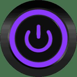Black Illuminated Power Symbol Purple SPDT 12V Pushbutton Switch - Black Latching 12V Push Button Switch SPDT Power Symbol
