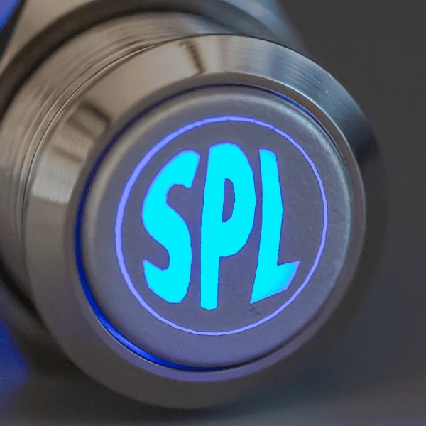Aluminum Blue LED SPL switch sound pressure level 600x600 - Aluminum Latching SPL 12V Push Button Switch SPDT